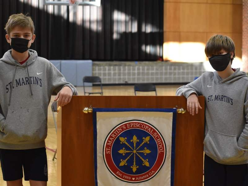 St. Martin's Episcopal School Spelling Bee included Drew Park, left, and Patrick Feagin