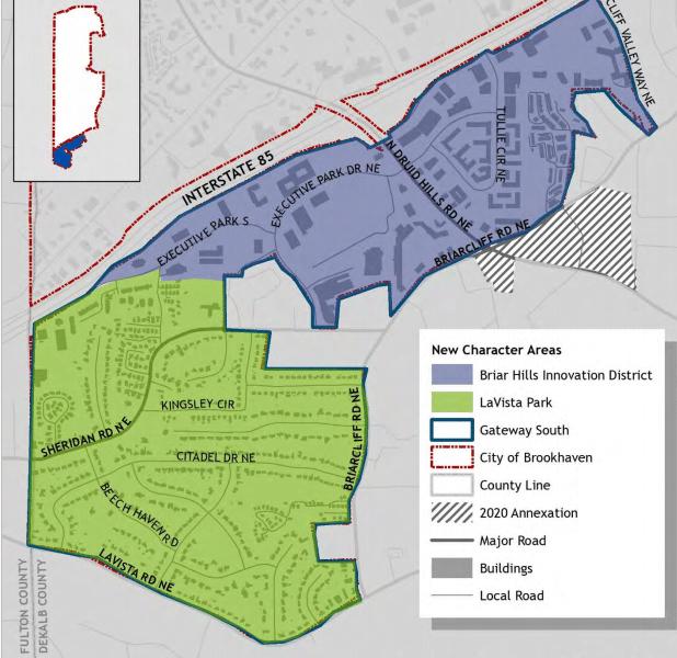 Briar Hills Innovation District Map