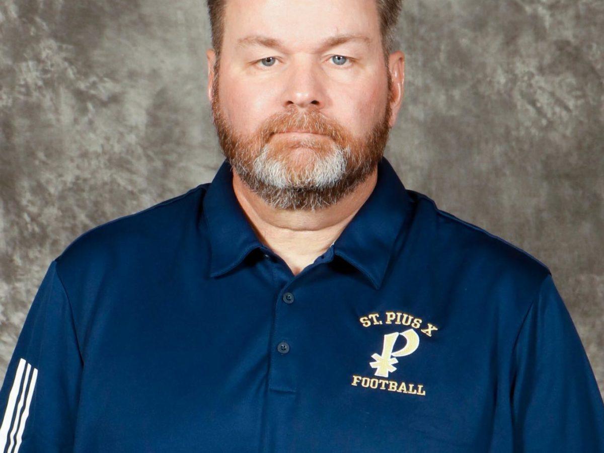 Head Coach Chad Garrison of St. Pius X football