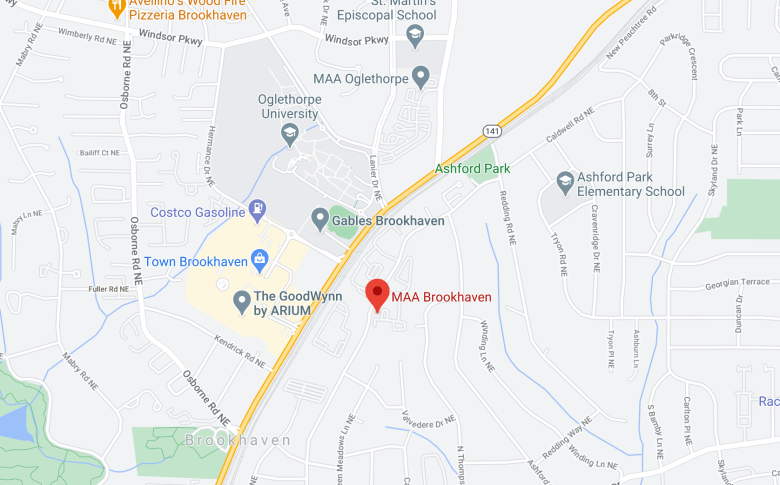 google maps of MAA Brookhaven