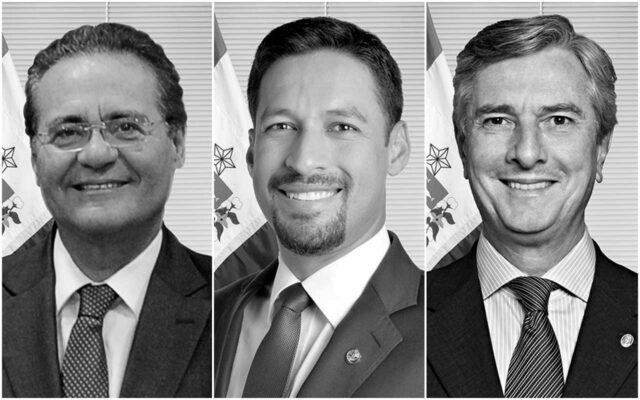 Senadores-Renan-Calheiros-Rodrigo-Cunha-e-Fernando-Collor