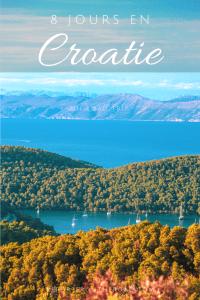 voyage croatie 1 semaine