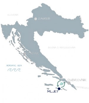 carte Croatie îles Mljet