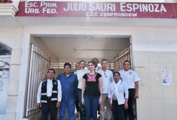 VISITA LA DIPUTADA, CANDY AYUSO ESCUELAS DE NIVEL PRIMARIA Y SECUNDARIA, EN EL MUNICIPIO DE ISLA MUJERES