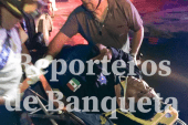 POLICÍA SUFRE HERIDAS  AL SER EMBESTIDO CUANDO IBA EN ATENCIÓN A REPORTE DE AUXILIO