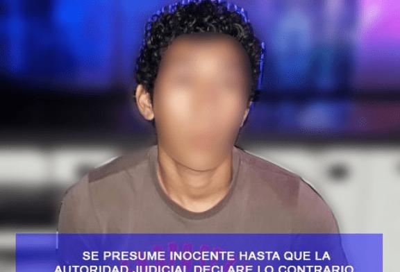 POLICÍA ESTATAL DETIENE A  UN SUJETO CON PRESUNTA DROGA
