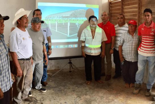 PRESENTA JOSÉ BALADEZ LA CONSTRUCCIÓN DE DOS DOMOS DEPORTIVOS EN LAS COMUNIDADES DE BULUCAX Y LA ESPERANZA