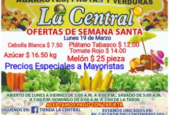 """PRECIOS Y OFERTAS EN """"LA CENTRAL"""""""