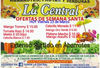 """OFERTAS DEL DÍA EN """"LA CENTRAL"""""""