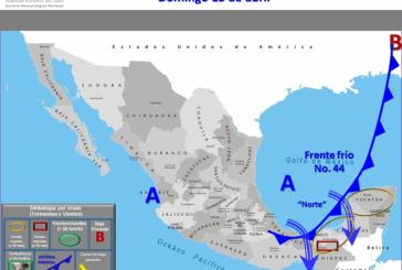 YA VIENE EL FRENTE FRIO 44 A LA PENÍNSULA DE YUCATÁN