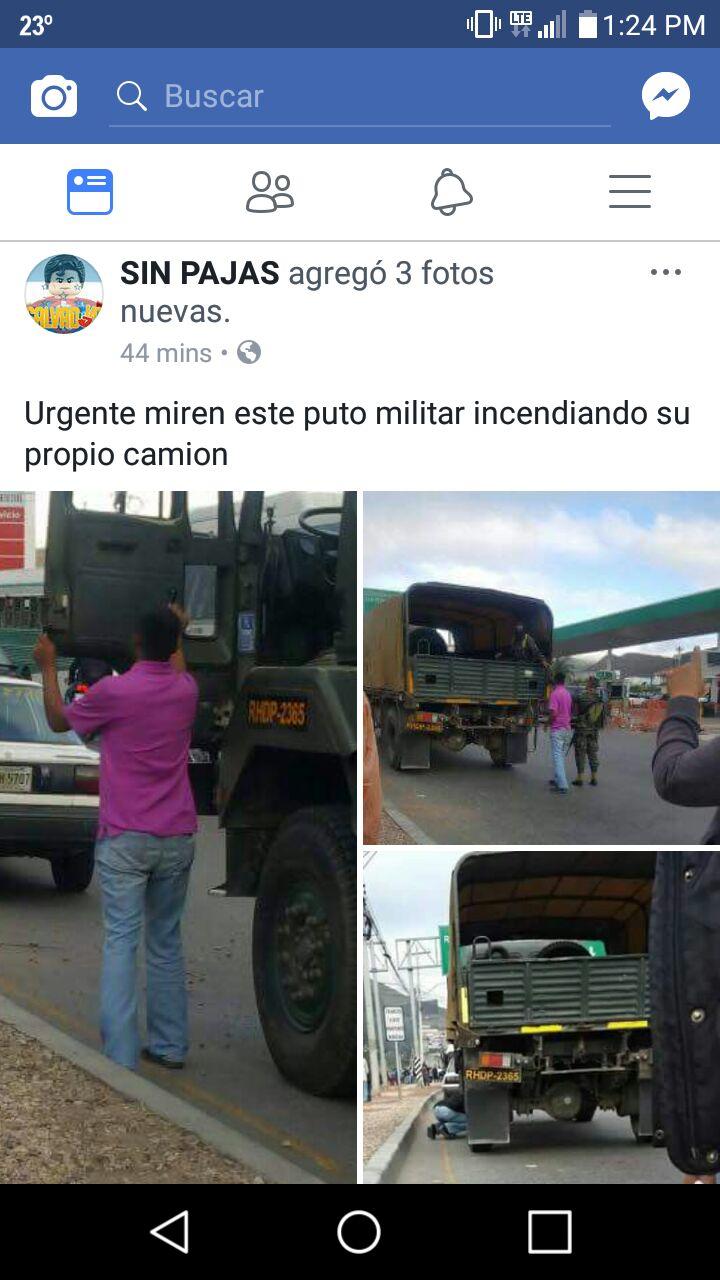 Denuncias a militar