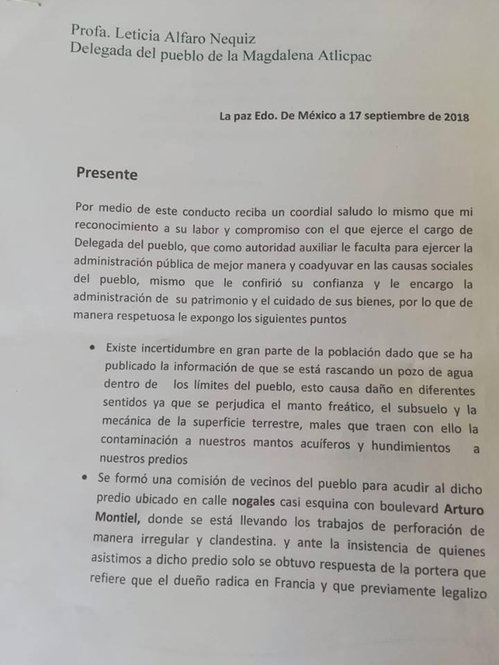 Reyes dudas sobre perforacion de pozo 17 9 2018