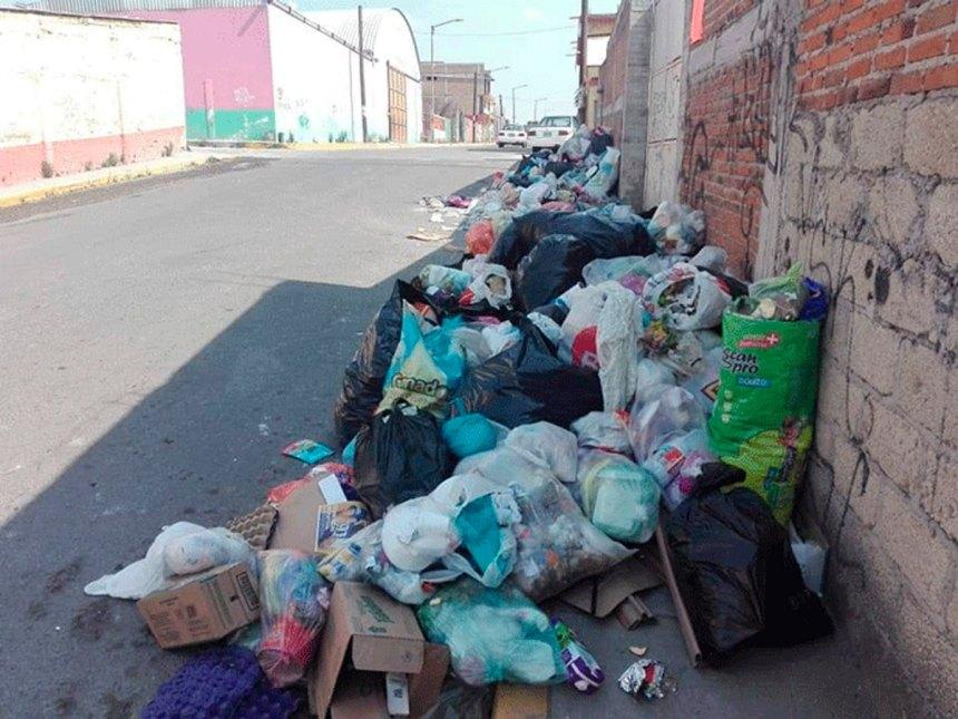 Foco de Infección por basura en las calles de Almoloya de Juárez (2)