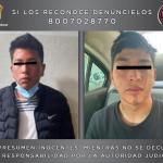 ASEGURAN ELEMENTOS DEL GTO A DOS INDIVIDUOS POR ROBO Y DELITOS CONTRA LA SALUD