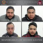 SENTENCIAN A 20 AÑOS DE PRISIÓN A CUATRO ASALTANTES