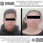 DETIENEN A DOS PERSONAS IMPLICADAS EN EL DELITO DE ROBO A CASA – HABITACIÓN EN TEXCOCO