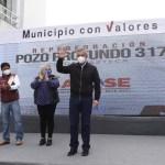Ecatepec abastece de agua a 32 mil vecinos de Ciudad Azteca con nuevo pozo