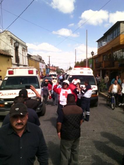 Cuerpos de emergencia acudieron en auxilio de lesionados