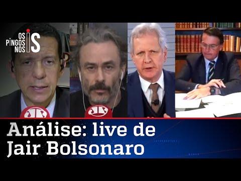 Comentaristas analisam a live do presidente Jair Bolsonaro de 27/08/20