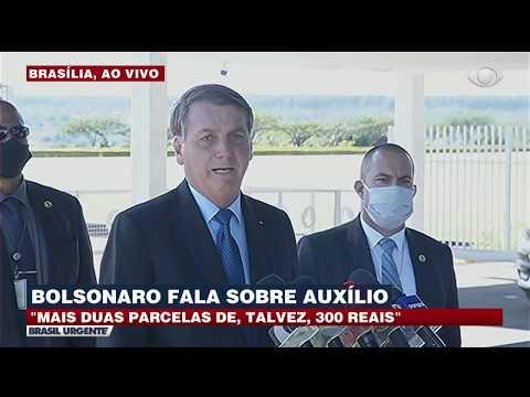 Bolsonaro fala sobre a quarta parcela do auxílio emergencial