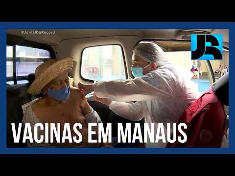 Manaus começa a vacinar os idosos contra o coronavírus