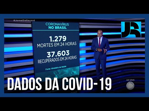 Brasil registra 1.279 mortes por covid-19 nas últimas 24 horas
