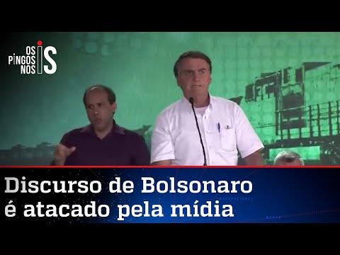 Assista à íntegra do discurso de Bolsonaro criticado pela imprensa