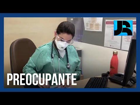 Médicos relatam exaustão, ansiedade e dificuldade de concentração na linha de frente contra a covid