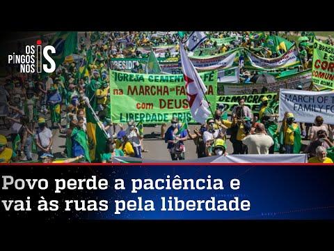 Marcha da Família: População vai às ruas pela liberdade e contra o lockdown