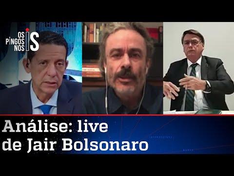 Comentaristas analisam live de Jair Bolsonaro de 29/04/21