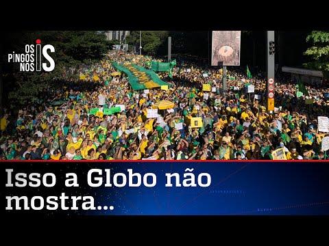 Imprensa tenta fingir que manifestações pró-Bolsonaro não ocorreram