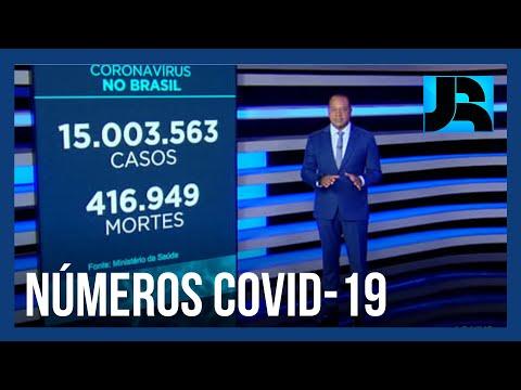 Coronavírus: Brasil registra 416.949 mortes, 2.550 nas últimas 24 horas