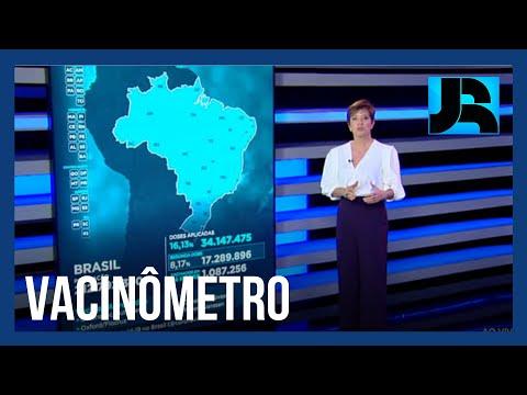Vacinômetro: 34.147.475 (16,13%) brasileiros tomaram a primeira dose