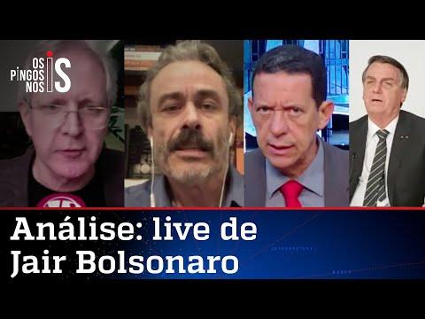 Comentaristas analisam live de Jair Bolsonaro de 10/06/21