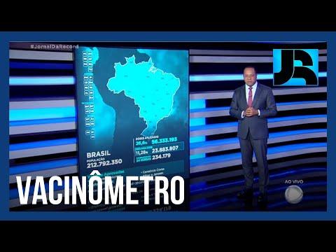 Vacinômetro: 56.333.193 (26,6%) brasileiros receberam a primeira dose