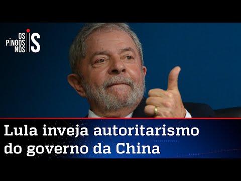 Lula defende ditadura chinesa e elogia força do partido único