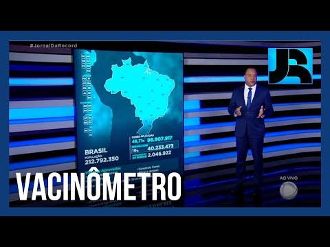 Vacinômetro: 98.907.917 (46,71%) brasileiros tomaram a primeira dose