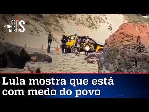Polícia fecha praia para Lula tomar banho de mar com a namorada