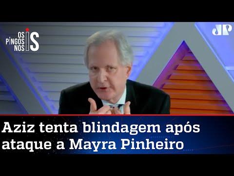 Augusto Nunes: Aziz foi covarde ao evocar imunidade parlamentar