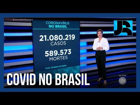 Coronavírus: Brasil registra 589.573 mortes, 333 nas últimas 24 horas