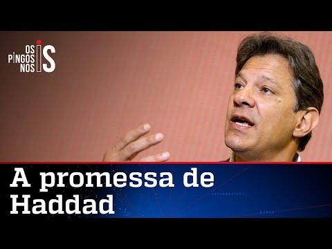 """Haddad promete """"dias melhores"""" ao MST"""