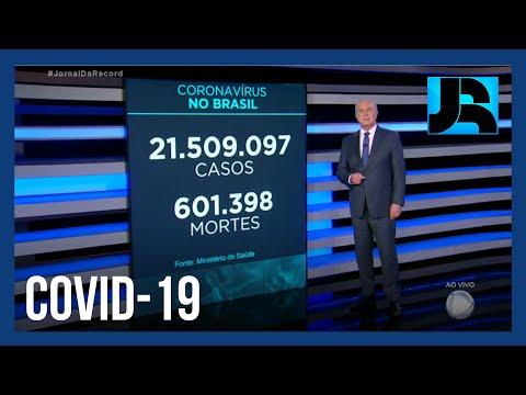 País tem mais de 21,5 milhões de casos registrados de covid-19