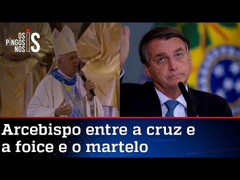 Bolsonaro dá resposta a arcebispo militante que critica armas