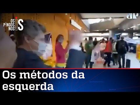 Sindicalistas xingam e atacam Marcel Van Hattem em aeroporto