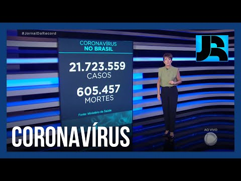 Coronavírus: Brasil registra 605.457 mortes, 318 nas últimas 24 horas