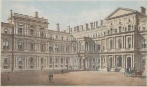 Litografia colorida representando o edifício do Ministério dos Negócios Estrangeiros inglês. Século XIX, © Government Art Collection