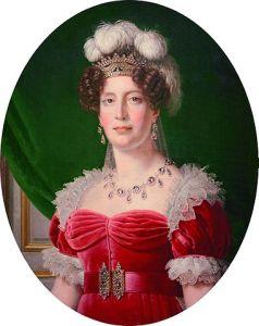 Maria Teresa Carlota. Retrato de Alexandre-François Caminade, 1827.