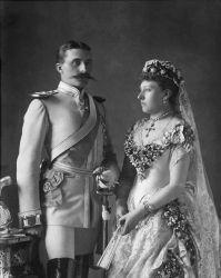 Henry de Battenberg e Princesa Beatriz, no dia do seu casamento