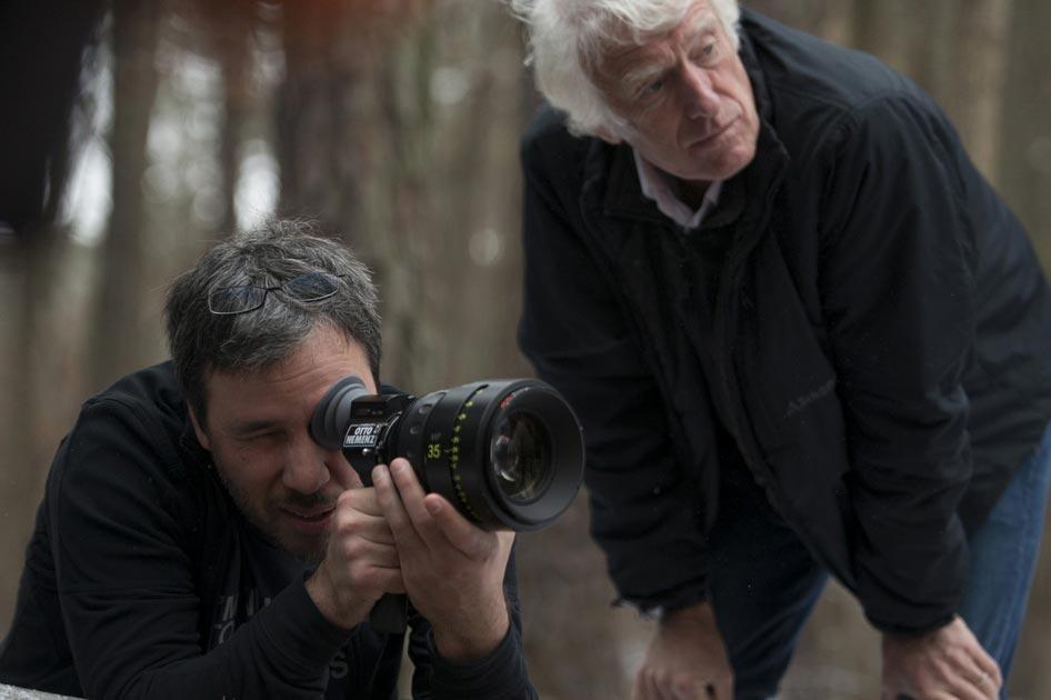 Dennis Villeneuve e o diretor de fotografia Roger Deakins