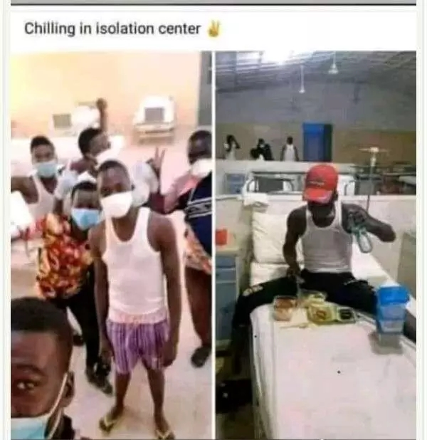See what this people are doing inside Isolation centre
